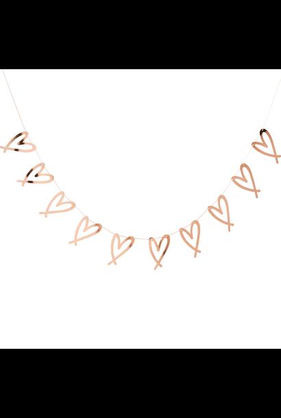 Slinger hartjes rosegoud (2M)