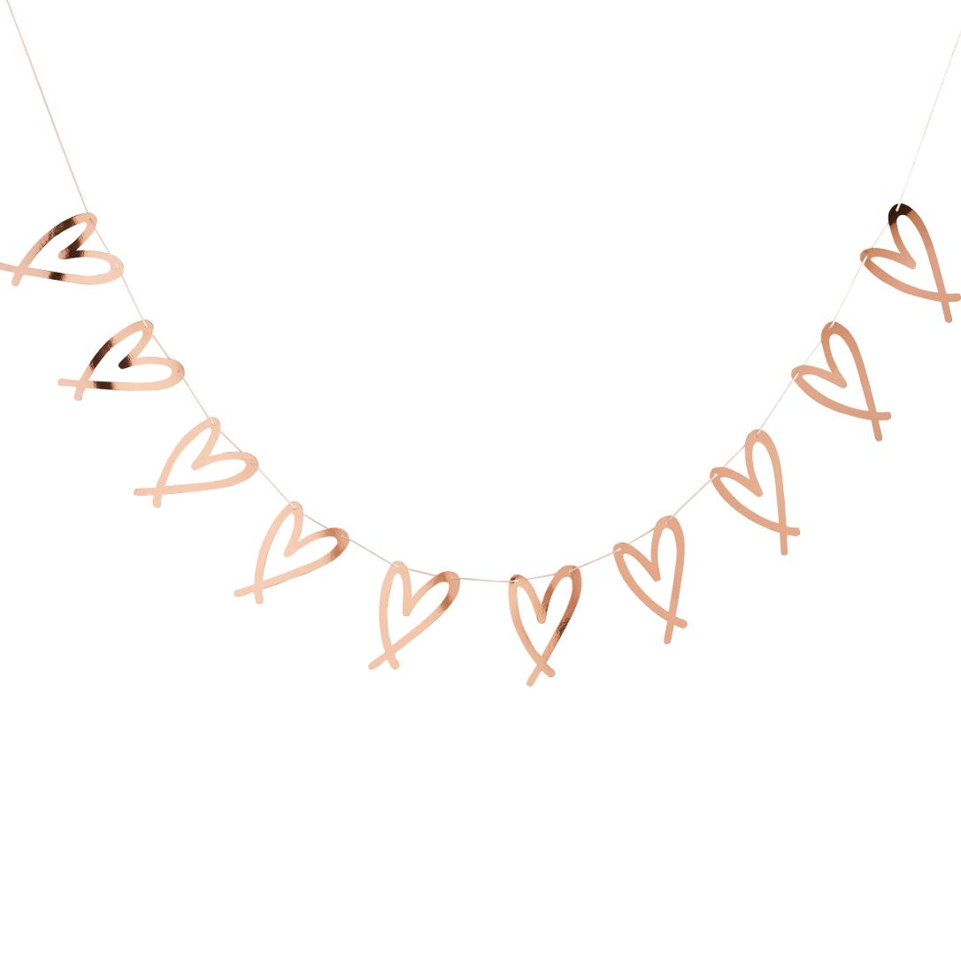 Slinger hartjes rosegoud (2M)-1