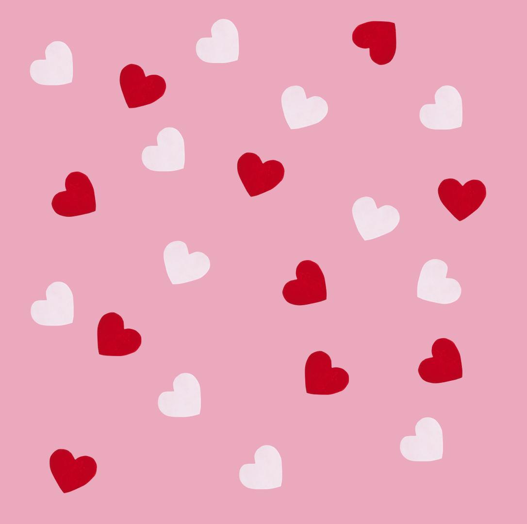 Tafelconfetti harten rood en rose HootyBalloo-2