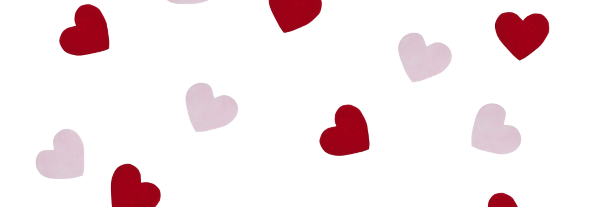 Tafelconfetti harten rood en rose HootyBalloo