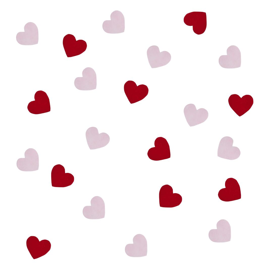 Tafelconfetti harten rood en rose HootyBalloo-1