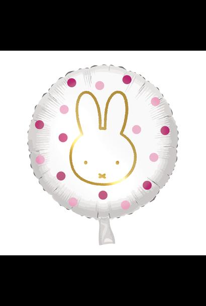 Folieballon Nijntje Roze (45cm)