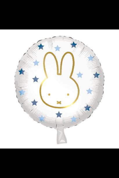 Folieballon Nijntje Blauw(45cm)