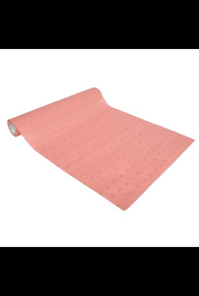 Tafelloper dots oud roze (5M)