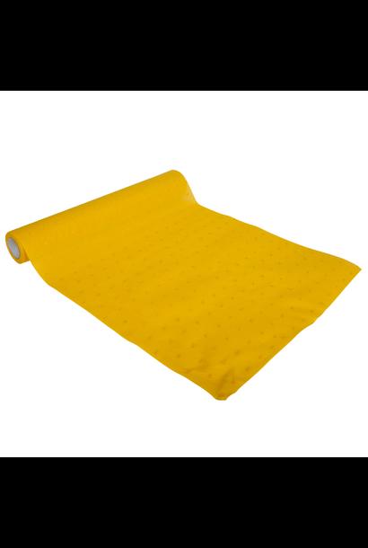 Tafelloper dots mosterd geel (5M)