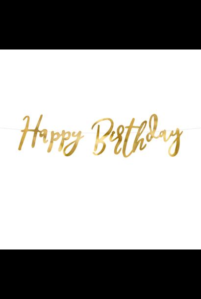 Happy birthday gouden slinger