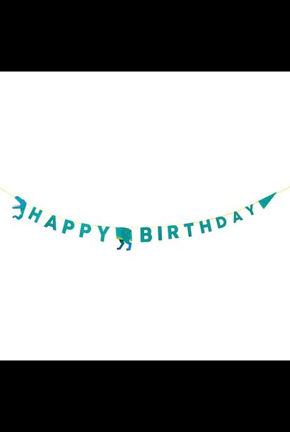 Happy Birthday slinger Party Dinosaurs (3.5M) Talking Tables