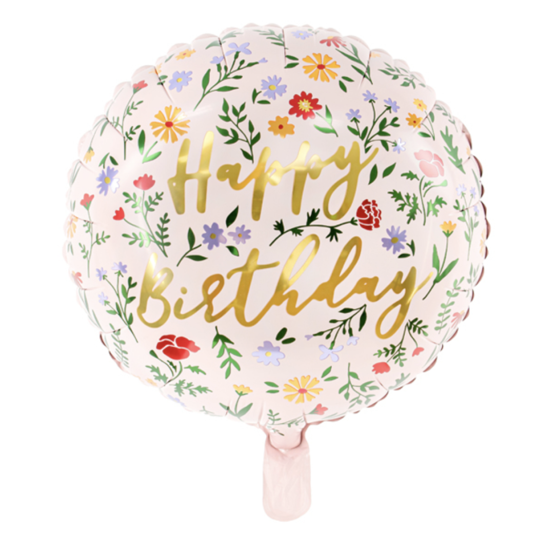 Folieballon Happy Birthday Dieren-1