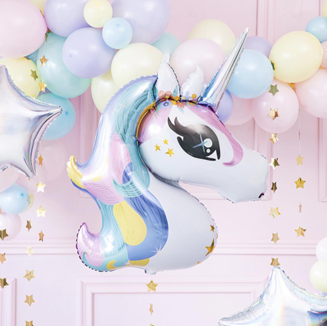 Unicorn folieballon pastel (90 cm)-2