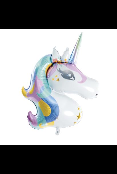 Unicorn folieballon pastel (90 cm)