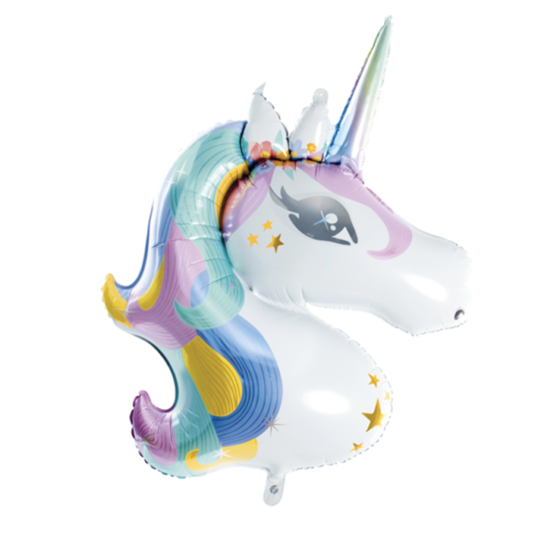 Unicorn folieballon pastel (90 cm)-1