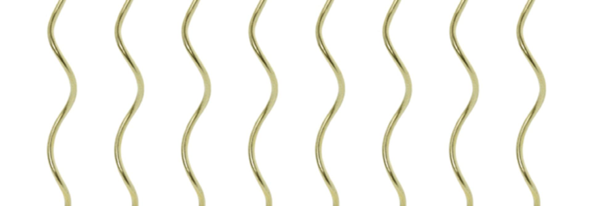 Taartkaarsen twisted goud (8st)