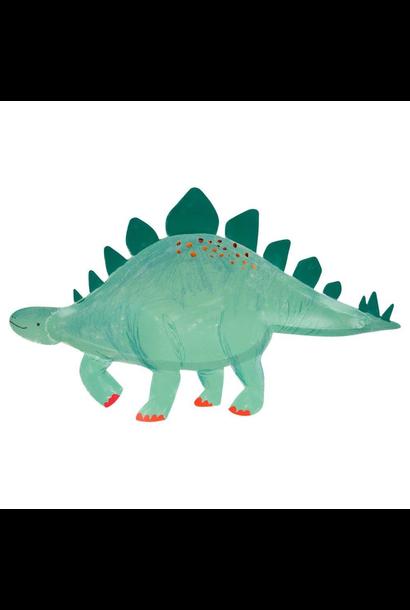 Serveerschalen stegosaurus Dinosaur Kingdom (4st) Meri Meri