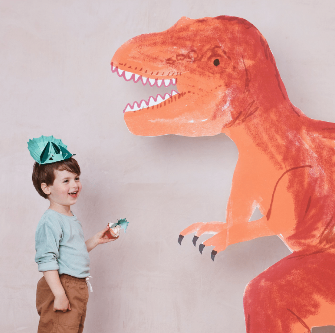 Feesthoedjes Dinosaur Kingdom (8st) Meri Meri-3