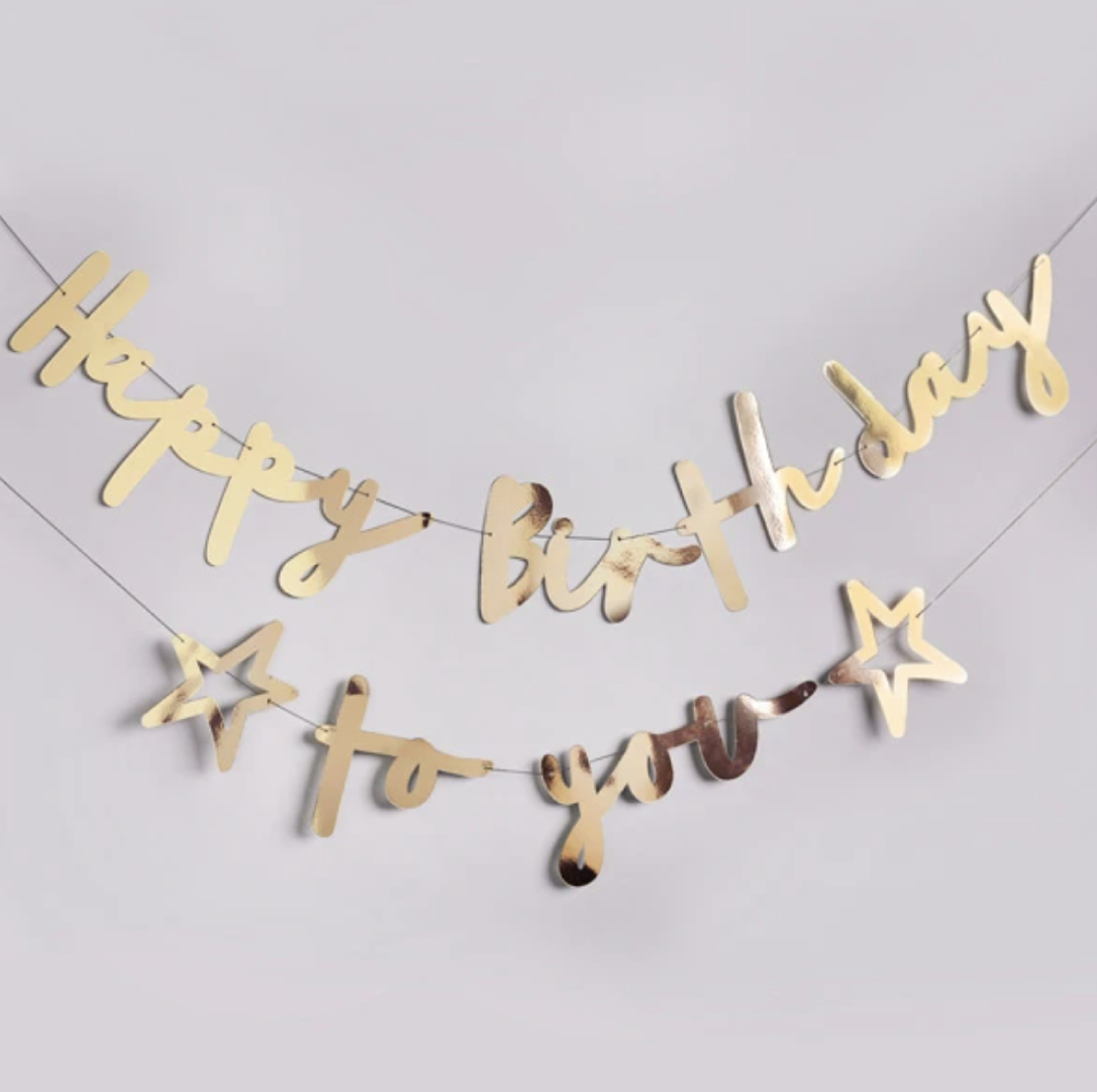 Slinger Happy Birthday to you goud (2M) Hootyballoo-2