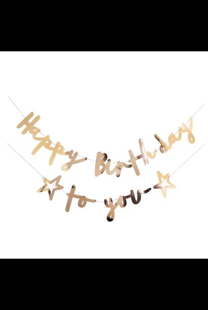Slinger Happy Birthday to you goud (2M) Hootyballoo
