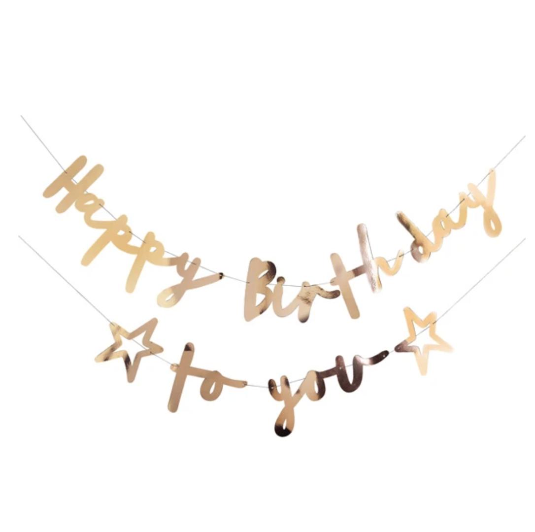 Slinger Happy Birthday to you goud (2M) Hootyballoo-1