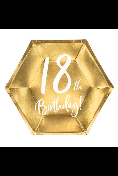 Borden 18th Birthday goud (6st)