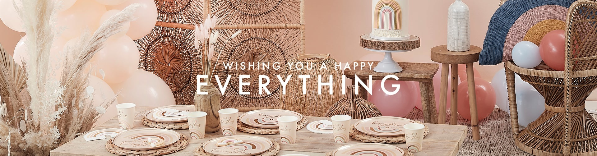 Happy Everything verjaardag versiering Ginge Ray