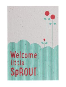 Send and Grow postcard - Welcome little Sprout
