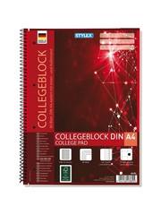 Stylex Stylex DIN A4 Collegeblok met Ruitpatroon 80 Bladzijden