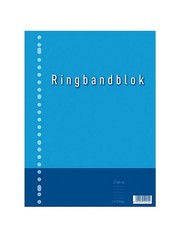 Kangaro Kangaro K-5544-RB-NTRL Ringbandblok A4 Lijn 23R 60grs 80 Blad