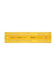 Aristo Aristo AR-5301/2 Lettersjabloon 2,5mm H-profiel Schriftvorm B Recht