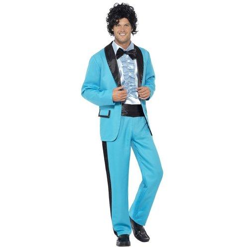 Smiffys 80's blauw kostuum