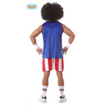 Fiestas Guirca Basketball speler blauw rood/wit gestreept