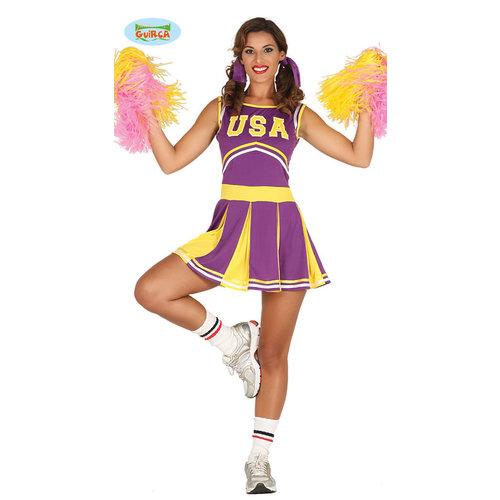 Fiestas Guirca Cheerleader paars/geel