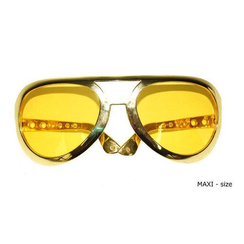 Bril 'Elvis' maxi goud