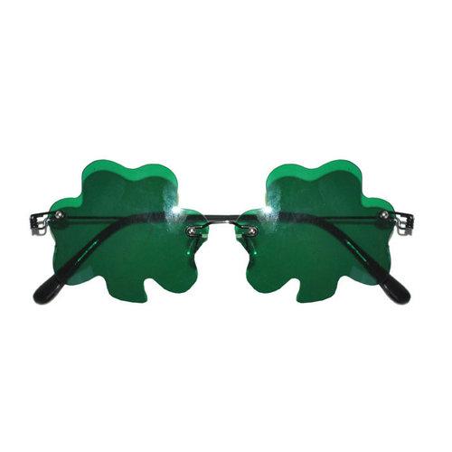 Bril 'St Patricks Day' groen klavertje