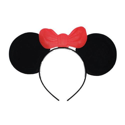 Diadeem Minnie muis met rode strik