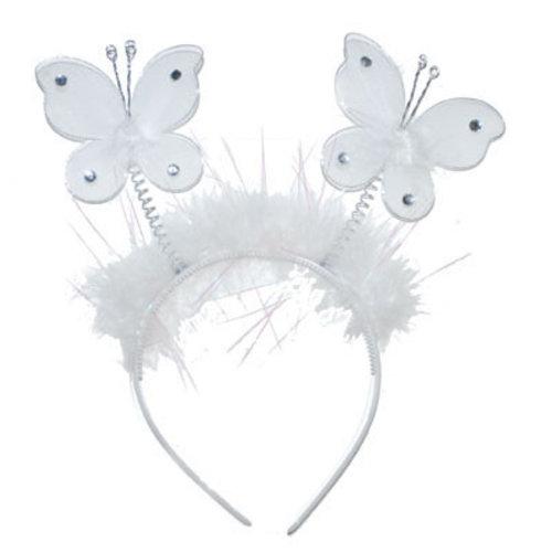 Diadeem Vlinder wit