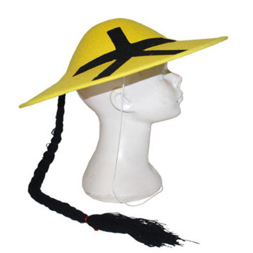 Chinese hoed geel met staart