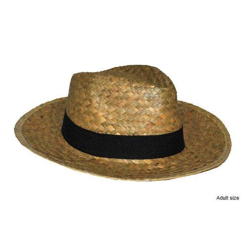 Cowboy hoed stro zwarte band
