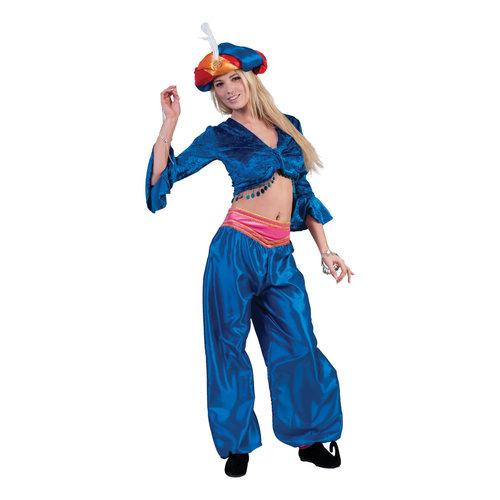 Funny Fashion Arabische danseres blauw