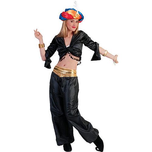Funny Fashion Arabische danseres zwart