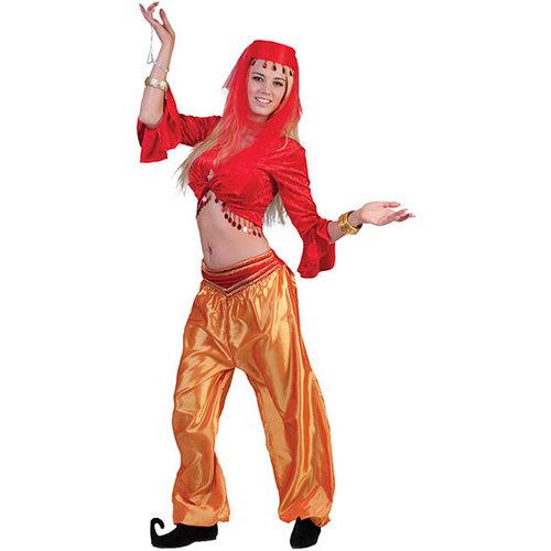 Funny Fashion Arabische danseres rood