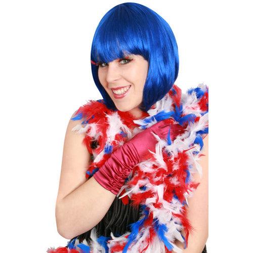 Boa b.v. dik 180cm/75gr rood/wit/blauw