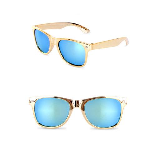 Blues Brothers bril goud met spiegelglas nr 91