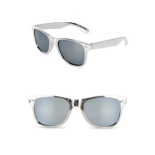 Blues Brothers bril zilver met spiegelglas nr 90