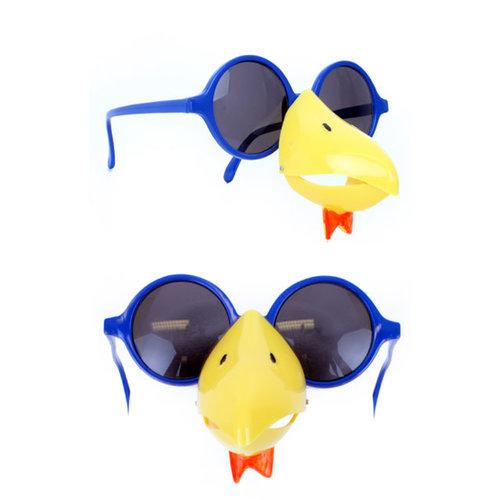 Bril blauw met kippensnavel geel nr 189