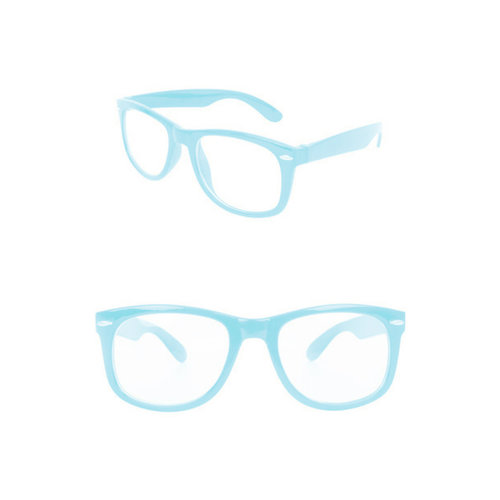 Bril Blues Brothers turquoise nr 182