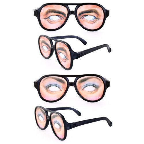 Bril met ogen verkr. in 2ass