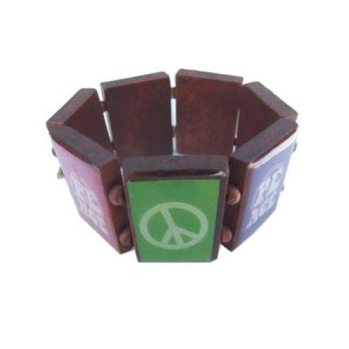 Armband 'Peace' hout