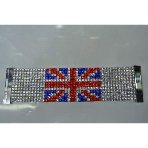 Armband UK steentjes 19x5cm