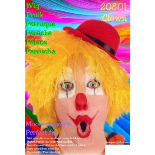 Clowns / Jomm pruik geel DOOS 71
