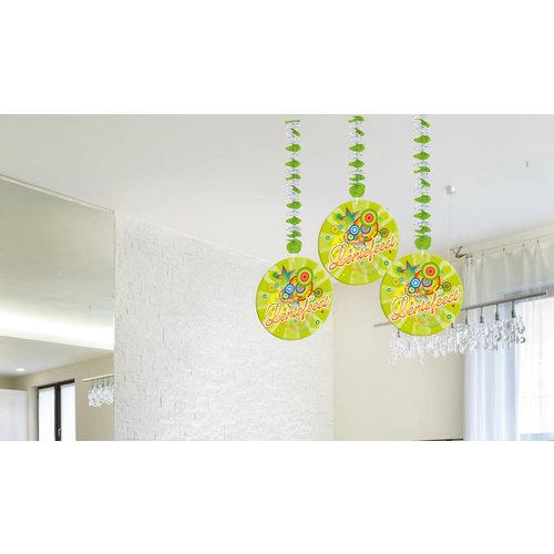 Hangdecoratie 'Lentefeest' lichtgroen