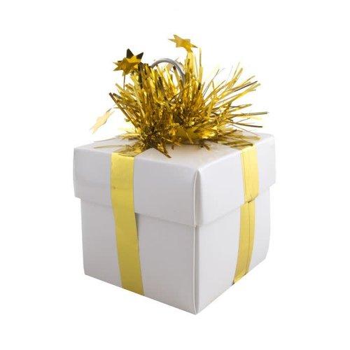 Ballon gewicht 'Geschenk goud'